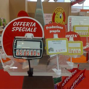 Segnaprezzi per tutti i settori banco gastronomia, Frutta e verdura, Pescheria, Macelleria...