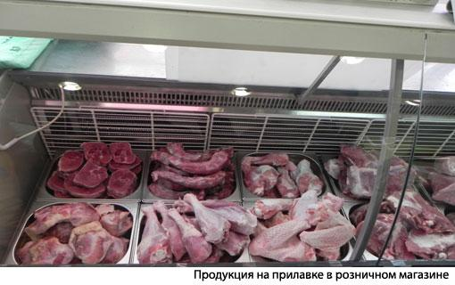 Мясо индейи на прилавке