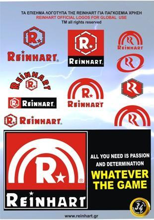REINHART skg.Τα κατοχυρωμένα για όλες τις χρήσεις λογότυπα της εταιρείας.