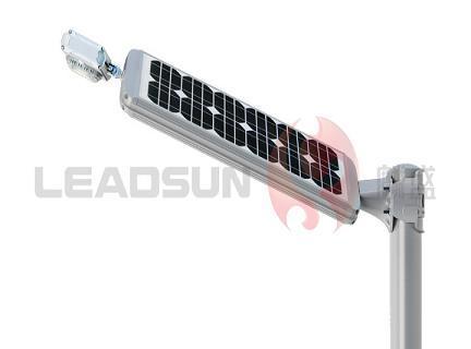 Led Head Adjustable Integrated Solar Lamp
