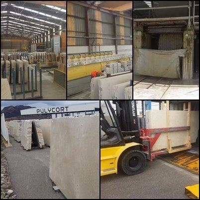 Let me show you our main Factory, Here begins the process of producing of the best Crema Marfil marble