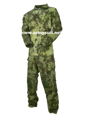 combat shirt with elbow & knee pads