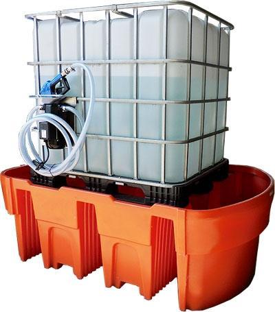 Een IBC lekbak is een kunststof opvangbak met een capaciteit van minimaal 110% en geschikt voor de inpandige- en uitpandige opslag van (chemische) stoffen.