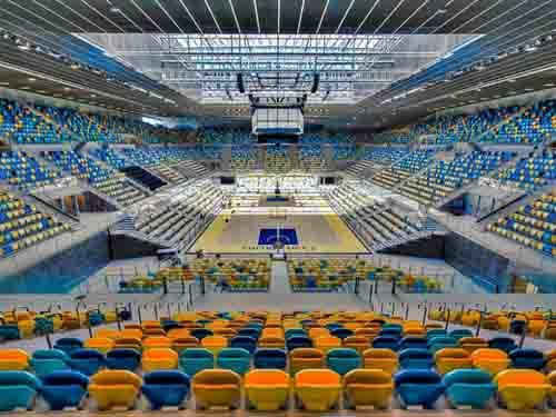 Avatar seating at the new Gran Canaria Arena, that hosted the FIBA World Championship 2015.