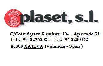 PLASET S.L.  has a MODERN INDUSTRIAL INSTALLATION that allows him to serve any order of bags of plastic in the best conditions of QUALITY, PRICE  and SERVICE of SPAIN
