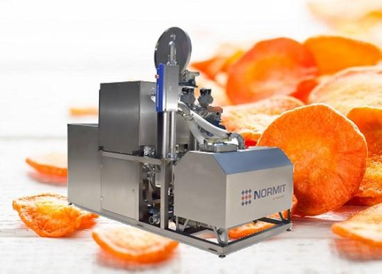 Vacuum fryer for the production of healthy carrot chips