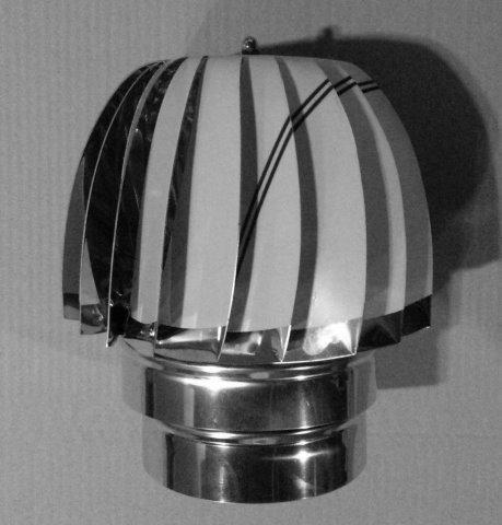 Extrator Éolico Inox AISI 304 ou AISI 316.