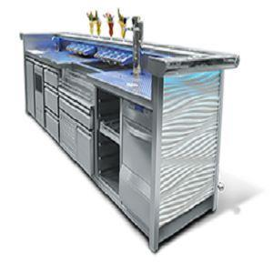 It is a modern and aesthetic bar line whose functionality and ergonomics make the work of a bartender faster and more efficient.