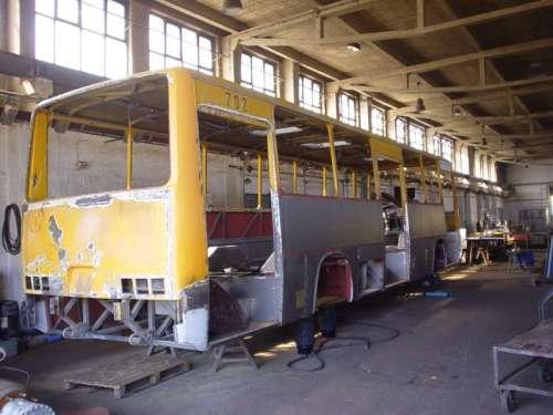 Repair of full or partial repair of trolley buses cabinet.