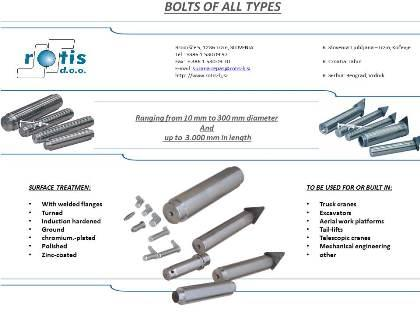 Bolts of all types and sizes