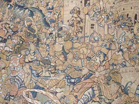 Tapisserie de 16ème siècle(bataille)