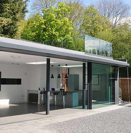 Architectural Glass Showroom in Amersham, London.