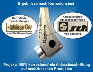 Beschriftungslaser für die korrosionsfreie und dauerhafte Direktmarkierung von Medizinprodukten von Schilling Marking Systems aus Tuttlingen