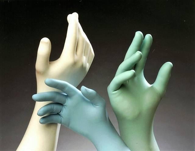 Nitrile cleanroom gloves