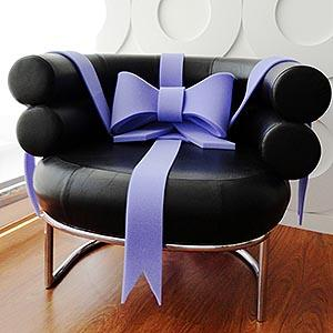 The M bow is fit for gifts such as a bicycle, a motor cycle, a household appliance, a sofa, a piece of furniture