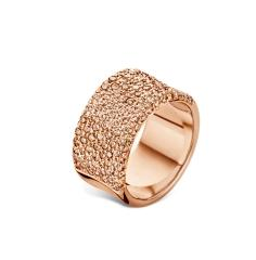 Notting Hill Ring in pink gold and cognac diamonds.
