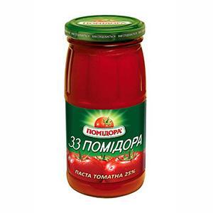 Tomato paste 33 Pomidora 25% brix 460 g