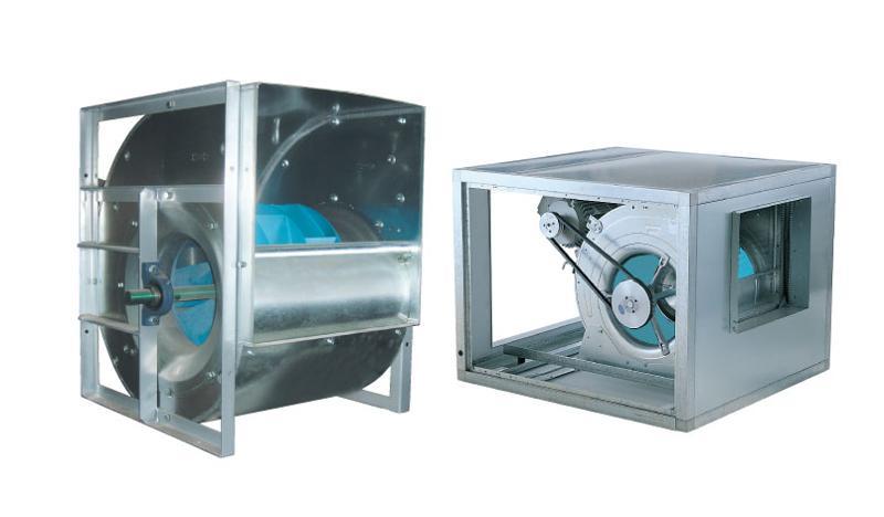 Belt driven centrifugal fans