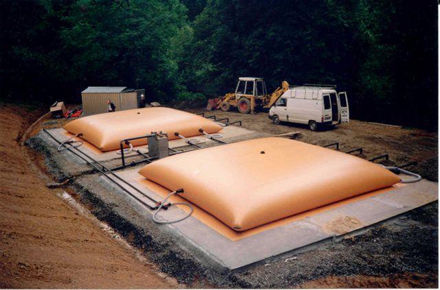 Flexible, transportable Tanks bis 500 m³, für Trinkwasser, Öle, Kohlenwasserstoffe, flüssige und gasförmige Medien.