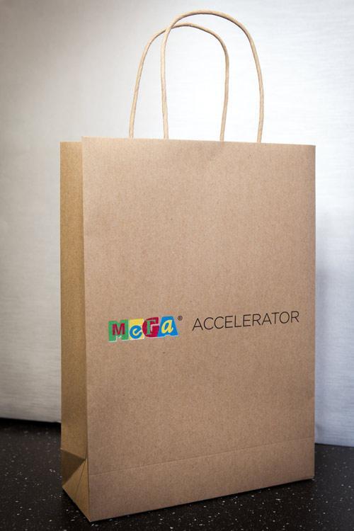 Craft Paper Bag Digital Printing with 5 Clolour, CMYK+WHITE