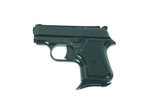 Model:           Mini (Black-Chrome-Gold-White) Gauge:          8mm Length:          12,5cm Capacity:       5+1 Weight:          420gr.