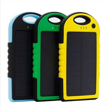 5000mah waterproof solar power bank