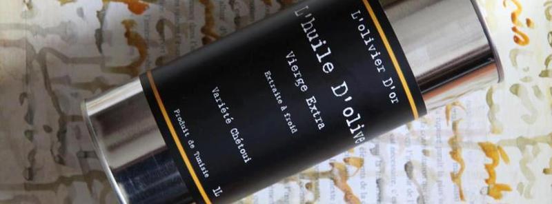 L' olivier D' or - L'huile D''olive Vierge Extra - Monovariétale Chétoui - Extraite à froid - Terroir du Cap Bon - Tunisie