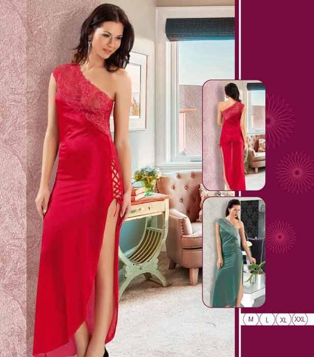 red nightdress