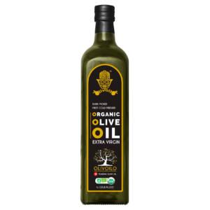 Organic Extra Virgin Olive Oil in 1L Marasca Glass Bottle