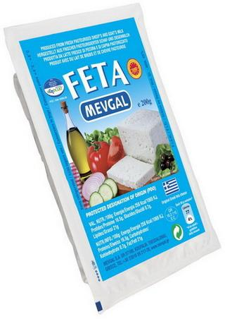 Authentic Greek Feta a white cheese traditionally produced for centuries from fresh sheep's and goat's milk. Feta is a P.D.O. cheese with international recognition and is pre-packed vacuum format.