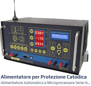la tecnologia di controllo a microprocessore consente di rispondere a tutte le esigenze più recenti di un moderno impianto di protezione catodica come la telegestione e telecontrollo,