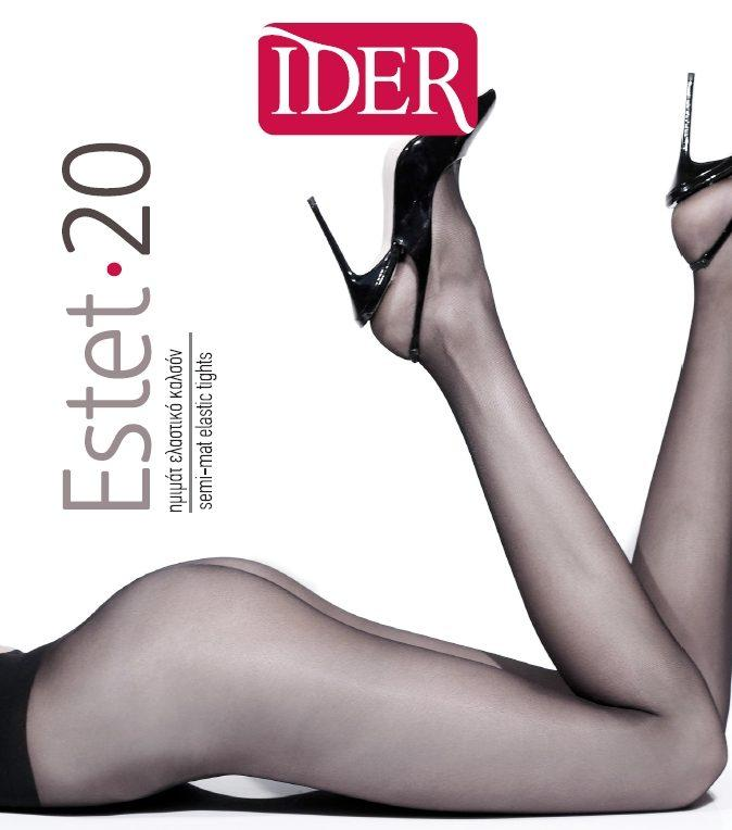 Also available in 40 den. Sheer semi-mat through body double covered elastic tights.
