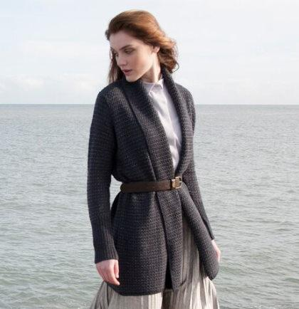 Long wool knitted jacket