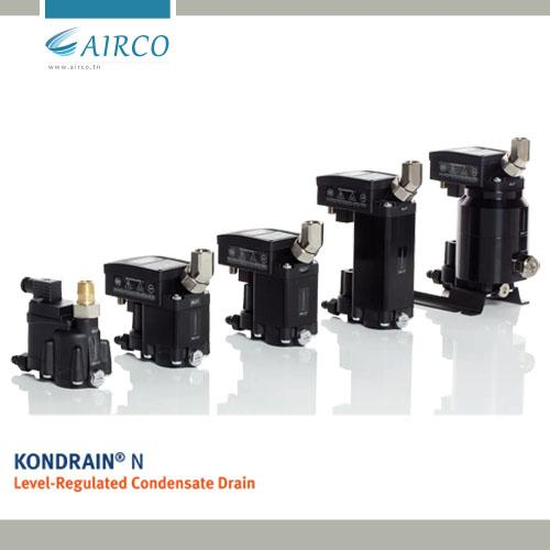KONDRAIN® Purgeur de condensat intelligent: Entièrement automatique et sans perte d'air comprimé.