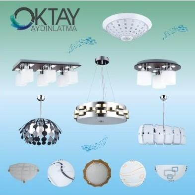 Decorative lighting fixtures, chandeliers and a large number of ceiling light, with very interesting design and good build quality. Brand new in our offer is OKTAY.