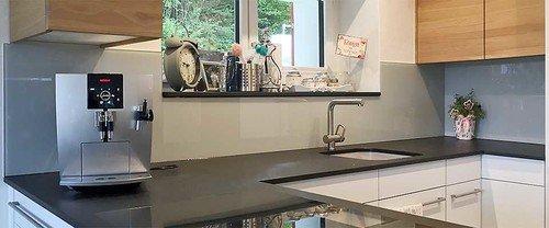Echtglas Küchenrückwand