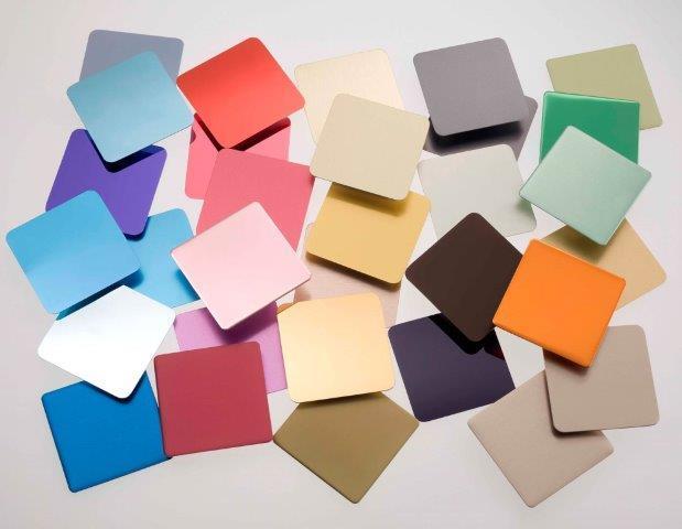 ALMECO provides a wide range of coloured preanodised aluminium surfaces