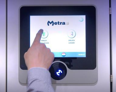 Metra touch display for lockers