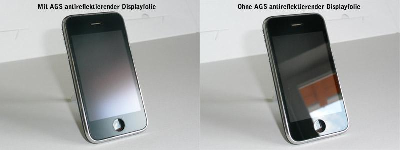 Smartphone - comparison anti reflection and ultra clear variant