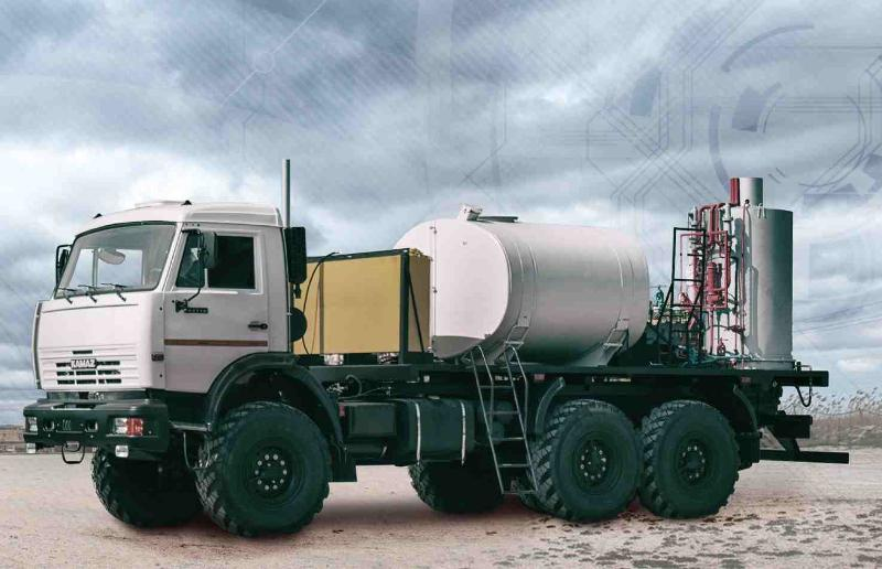 Mobile Steam Generator is created for effective cleaning of oil well pipelines and equipment from wax. High temp. and pressure of steam allow environmentally friendly recovery of oil extraction volum