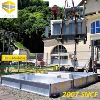 2007 SONEC bac de rétention modulaire pour transformateur électrique BGS Modulai