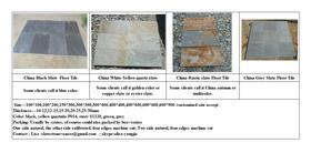China slate floor tiles