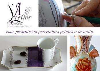 Créateur en arts décoratifs, l'Atelier Porcelaine conçoit des décors sur porcelaine entièrement peints à la main. De la porcelaine de Limoges sublimée de relief et d'or fin. Personnalisable