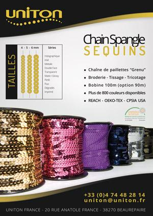 "Chaîne de paillettes ""Grenu"" 