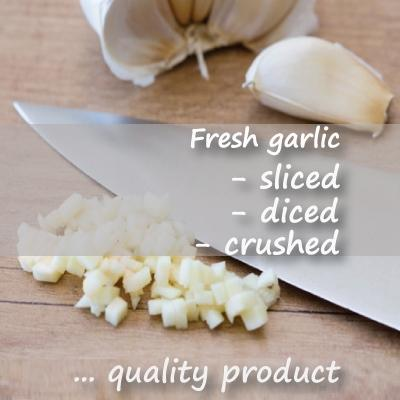 Fresh Chopped Garlic ready to use