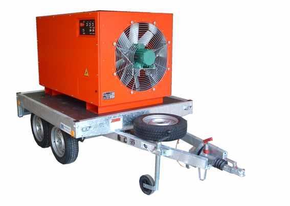 Banc de charge 500 kW monté sur remorque