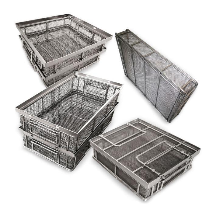 Stainless Steel Wire mesh baskets, bulk good cleaning baskets, stainless steel b