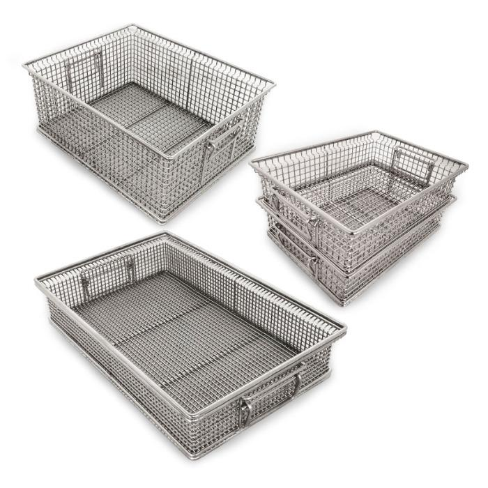 wire baskets, stainless steel baskets
