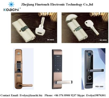 Lock cylinder and digital door lock from FINETOUCH Company