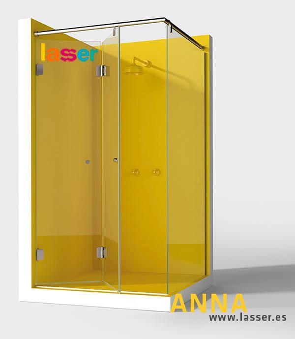 Anna unifica la transparencia, la estética, la elegancia y la originalidad del diseño en mamparas para el baño. Su estilo minimalista engloba la gama de Anna corredera, Anna plegable y Anna practicabl